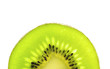 Close up on half of Kiwi fruit