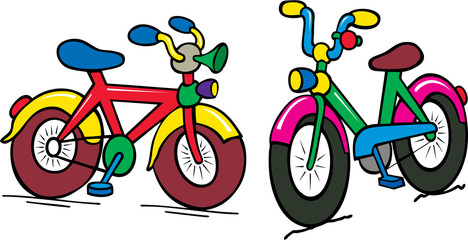 color kids bike