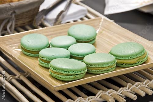 Macarons au matcha, thé vert japonais