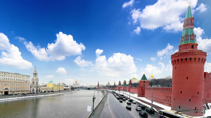 View of the Kremlin Embankment.Moscow