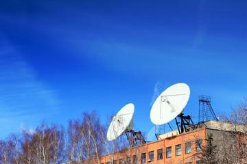 Satellite Dish on roof.