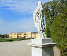 Statue im Schlosspark Schönbrunn / Wien