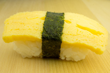 Japanese sushi tamago , traditional japanese food