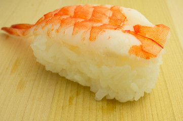 Japanese sushi ebi, traditional japanese food