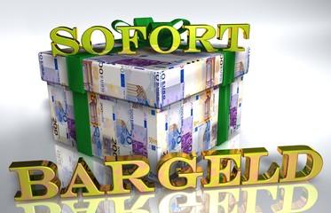 3D Geldgeschenk weiss - SOFORT BARGELD