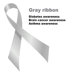 Gray ribbon
