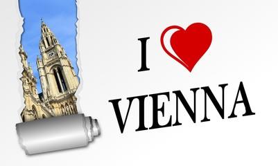 Karte Ich liebe Wien - Rathaus