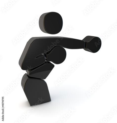 boxen boxing symbol 3d