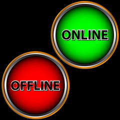 Online and offline icon