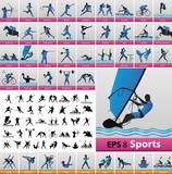 Fototapety Sport pictograms
