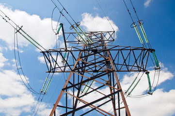 Power Line against sky background.