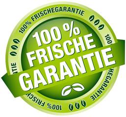 """Button Banner """"100% Frischegarantie"""" grün"""