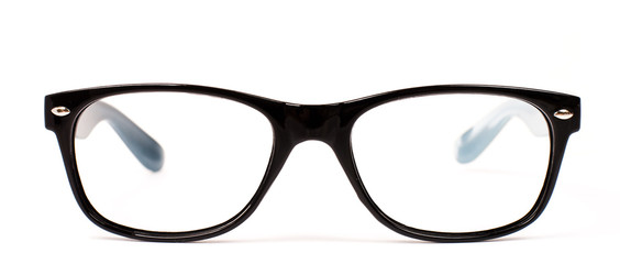 Pair of black modern eye glasses