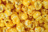 Close view cheese flavored popcorn