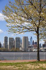 Philadelphia skyline from the Delaware river