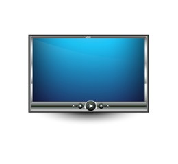Vector bright colorful digital LCD tv illustration