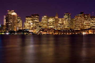 Boston Massachusetts at night