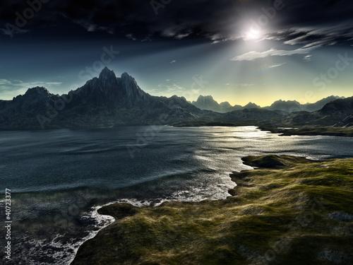 dark fantasy landscape © magann