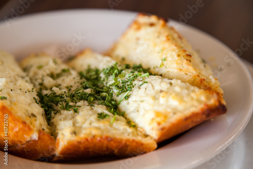 Close up deliious Garlic bread
