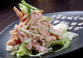 Japan salad with chicken and vegetables