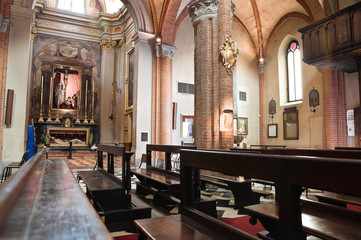 St. Brigida interior church. Piacenza. Emilia-Romagna. Italy.