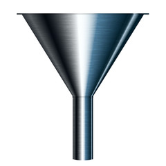 Vector illustration of funnel