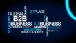 B2B Business-to-business corporate commerce tag cloud video