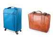 two suitcases, modern and old