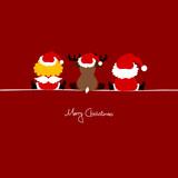 Santa, Angel & Reindeer Santa´s Hat Red