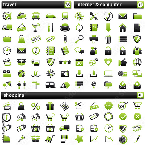 pack Icons V green