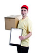 Delivery courier man