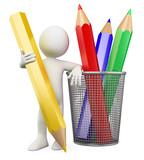 Fototapety 3D child - Color pencils