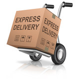 express delivery cardboard box