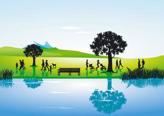 Landschaft am Fluß
