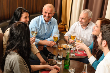 Drink after work happy colleagues having fun