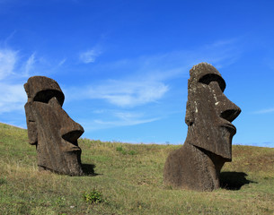 Ancient moai statues on Easter Island