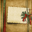 Vintage Christmas background with old card