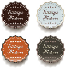 Vintage stickers - eps8