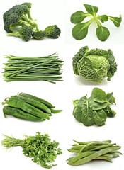 Mural de hortalizas verdes