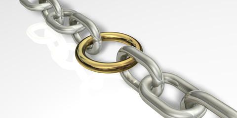 Kette Ring Gold