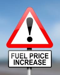 Fuel price warning.