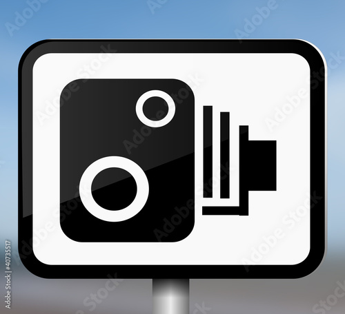 Speed camera sign.
