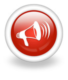 "Light Red Icon ""Megaphone / Announcement Symbol"""