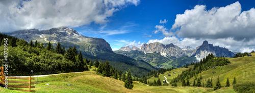 Leinwanddruck Bild Dolomiti - Alta Badia panorama