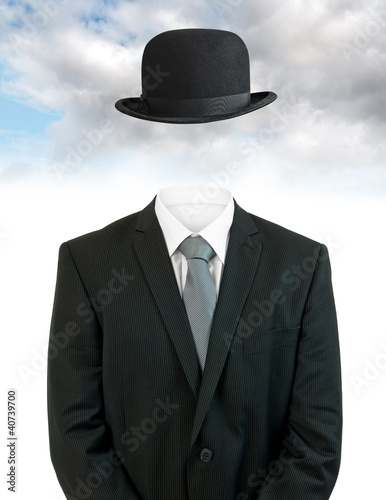 Businessman invisible
