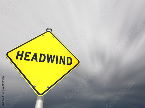 HEADWIND road sign