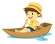 Rowing boy