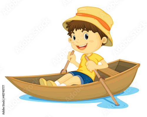 Rowing boy