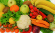 Fresh and healthy fruits and vegetables