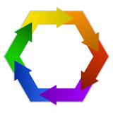 Polygonal logo poster